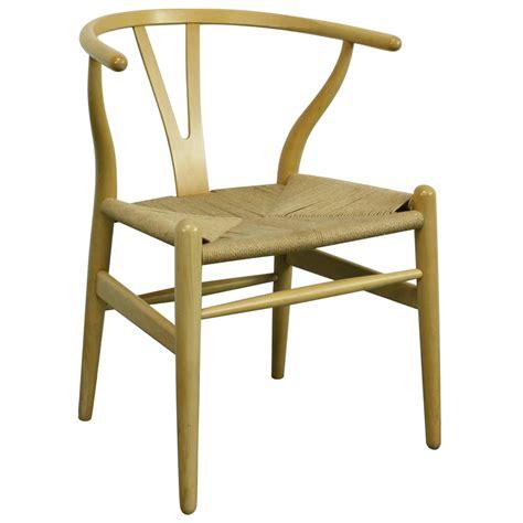 vintage hans wegner wishbone y chair in ash for sale at