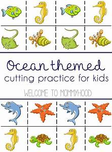 Free Ocean Themed Cutting Practice From Welcome To