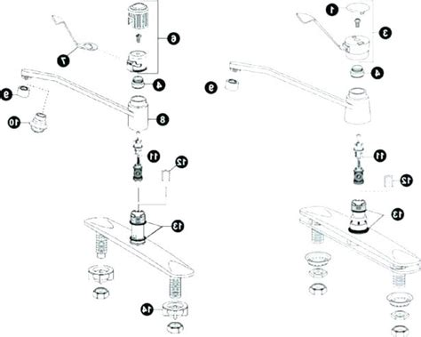 Moen Single Handle Kitchen Faucet Repair Diagram by Moen Monticello Kitchen Faucet Parts Diagram Wow