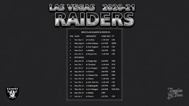 las vegas raiders wallpaper schedule