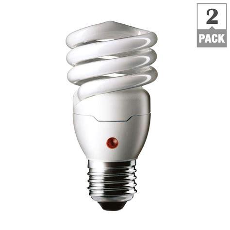 dusk to light bulb philips 60w equivalent soft white spiral dusk till