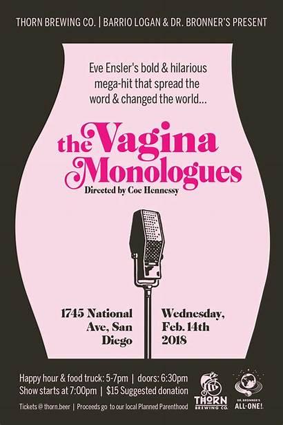 Vagina Monologues Beer Poster Valentine Thorn Birria