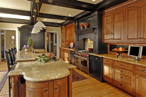 ritzy open kitchen decors with marble countertop large