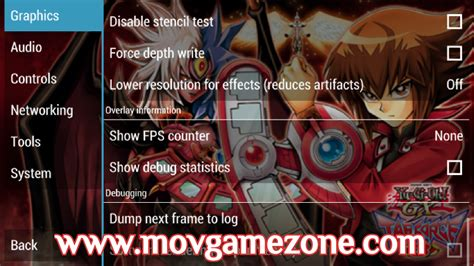 ppsspp yu gi oh tag gx setting force gold psp settings games android apk version opted successfully done play re