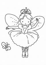 Coloring Ballerina Ballet Fairy Dance Sheets Printable Colouring Butterfly Visit Adults Kid Crafts sketch template