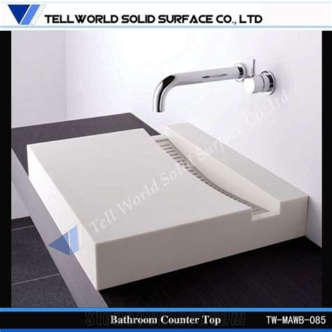 solid surface sinks kitchen china supply solid surface bathroom countertops with built 5606