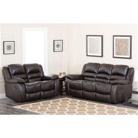 2 piece sofa set bowery hill 2 piece reclining leather sofa set bh 449875