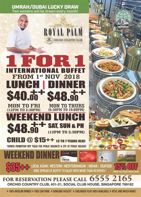 buffet promotion royal palm occ halal restaurant