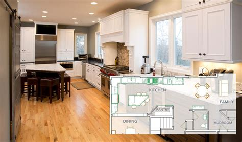 open floor plan kitchen renovations  spaces minnesota remodeler