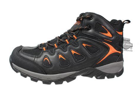 93328 harley davidson 174 mens woodridge hi top waterproof black casual shoe barnett