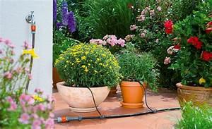 Tropfschlauch bewasserung selbstde for Whirlpool garten mit bewässerung balkon ohne wasseranschluss