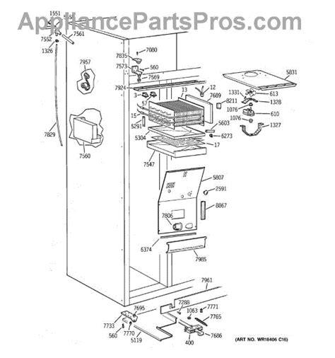 parts  ge zisnca freezer section parts appliancepartsproscom