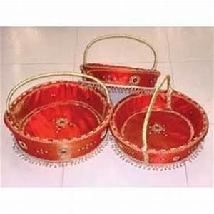 Decorative Baskets - Round Handle Basket Set Of 3 Big