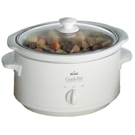 rival crock pot 3735 wn 3 5 quart oval cooker ebay