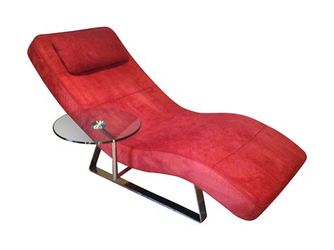 boconcept chrome and microfiber suede chaise chairish