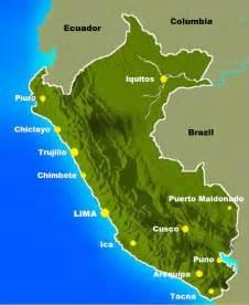Peru Major Cities Map