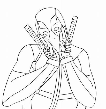 Deadpool Coloring Marvel Pages Printable