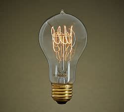 teardrop filament 40w light bulb pottery barn