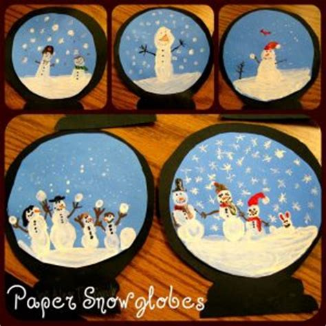 snow globe craft idea  kids crafts  worksheets  preschooltoddler  kindergarten