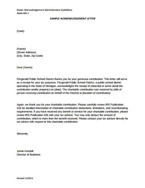 nonprofit gift acknowledgement letter lamoureph blog