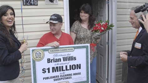 publishers clearing house winner today pch november 25th 1 million winner brian willis