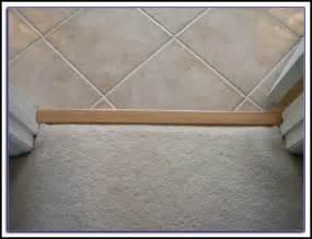 carpet to tile transition strip on concrete tiles home