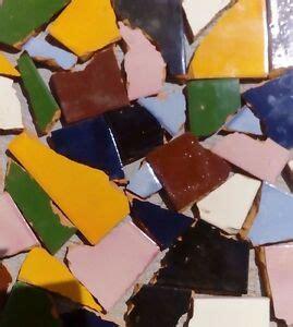 pounds  broken talavera mexican ceramic tile  mixed