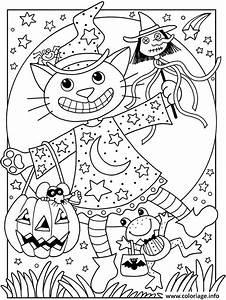 Dessin Facile Halloween : coloriage halloween facile chat citrouille ~ Melissatoandfro.com Idées de Décoration