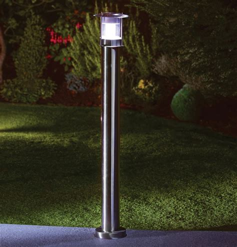 outside solar l post 90cm stainless steel outdoor patio driveway garden led