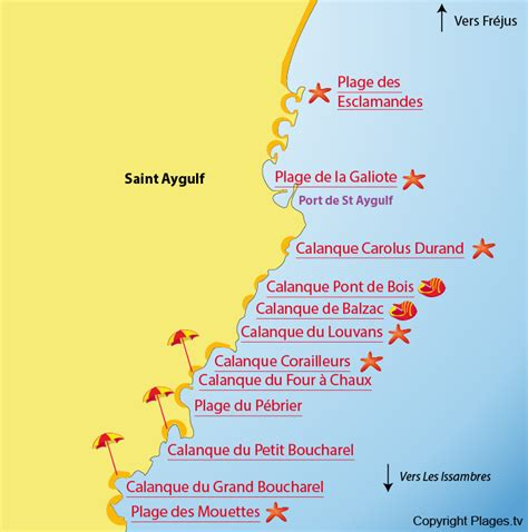 St Aygulf Var Carte by Plage De La Galiote Aygulf 83 Var Paca Plages Tv