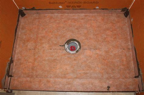 drain cutout   kerdi membrane