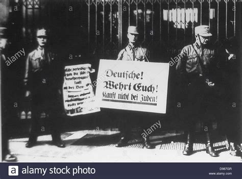 anti jewish boycott of german jews by nazi s shortly after