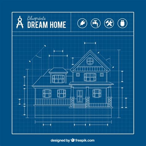 blueprints for houses house blueprint vector free