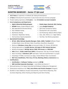 qa test lead resume sunetra banerjee sr qa engineer project lead resume