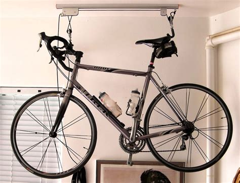 product review bike lift for garage two wheel journal