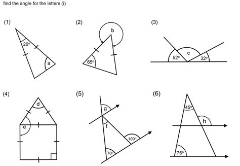 missing angles in a triangle worksheet worksheets for all