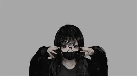 Hd Wallpaper Glasses Minimalism Monochrome Mask Aoi