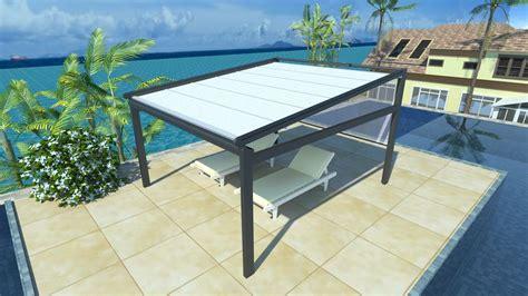 sun rain protection waterproof retractable awning screen pergola  fabric