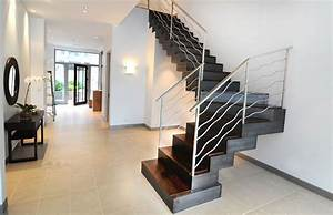 Image of: Custom Stair Fabrication Installation Commercial Beautiful Stair Design Both For Modern And Traditional House