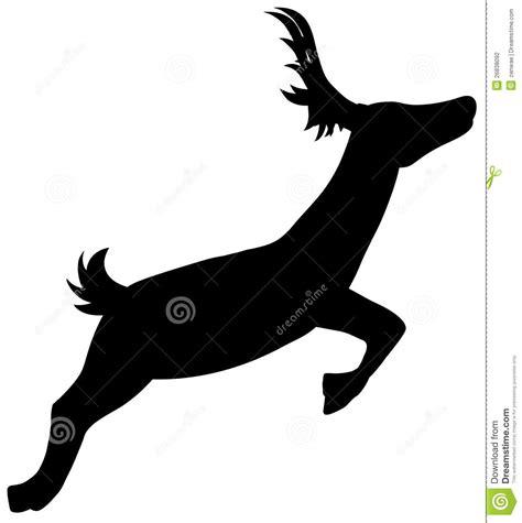 silhouette running deer stock vector illustration