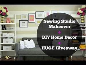 Sewing Studio Tour + DIY Room Decor - YouTube