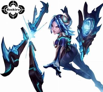 Irelia Frostblade League Legends Skin Renders Transparent