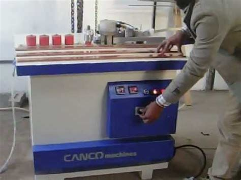 pvc edge banding machine   india youtube