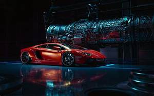 Wallpaper Lamborghini Aventador, CGI, HD, Automotive