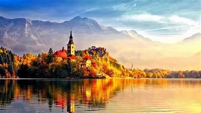 Fall Desktop Autumn Wallpapers Backgrounds Castle