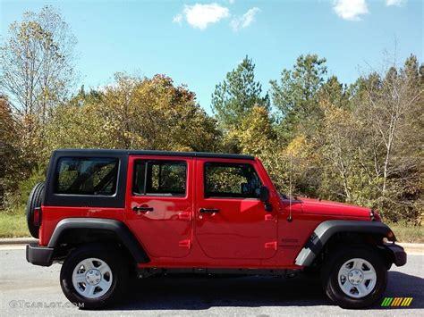 red jeep 2017 2017 firecracker red jeep wrangler unlimited sport 4x4 rhd