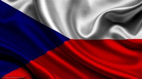Download Hintergrund Tschechien, Satin, Flagge ...