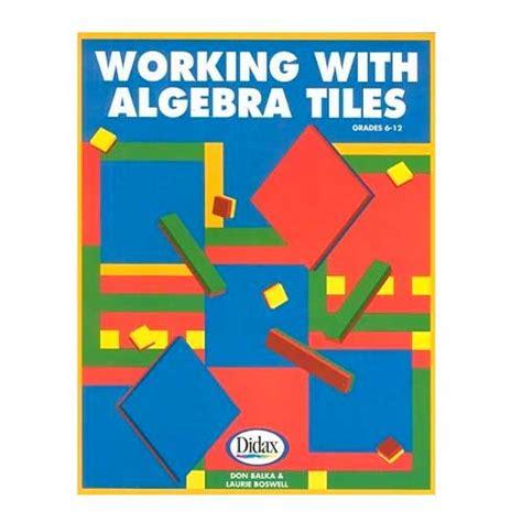 working with algebra tiles math manipulatives supplies