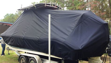 Carolina Skiff Boat Cover With T Top by Carolina Skiff 23 Ultra 20xx T Top Boat Cover Port Rear