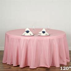 "120"" Round Polyester Tablecloth Wedding Table Linens"